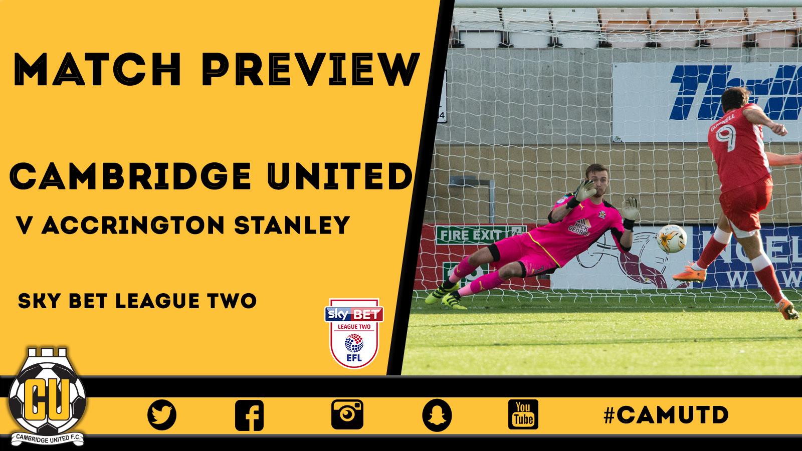 MATCH PREVIEW | ACCRINGTON STANLEY - News - Cambridge United