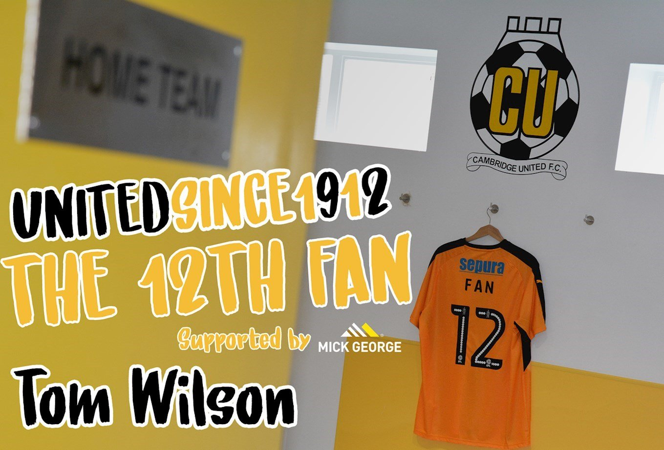 wholesale dealer a3d08 158ee INTRODUCING THE 12TH FAN…TOM WILSON - News - Cambridge United